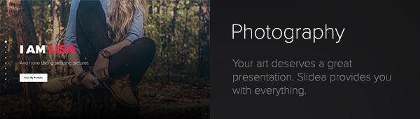Slidea - Photography Template