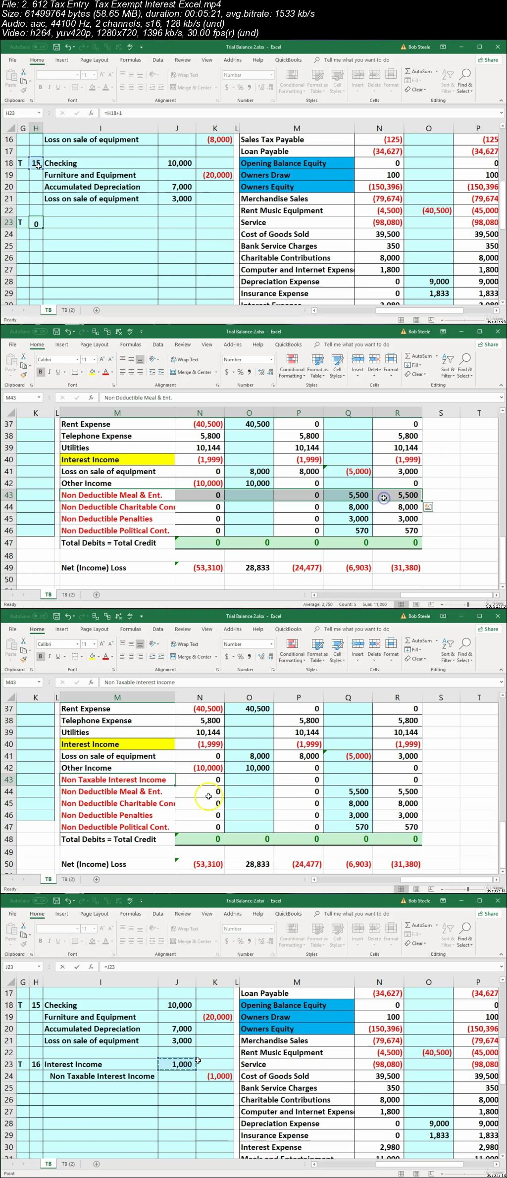 Tax Amp Adjusting Entry Year End Accounting Excel Worksheet