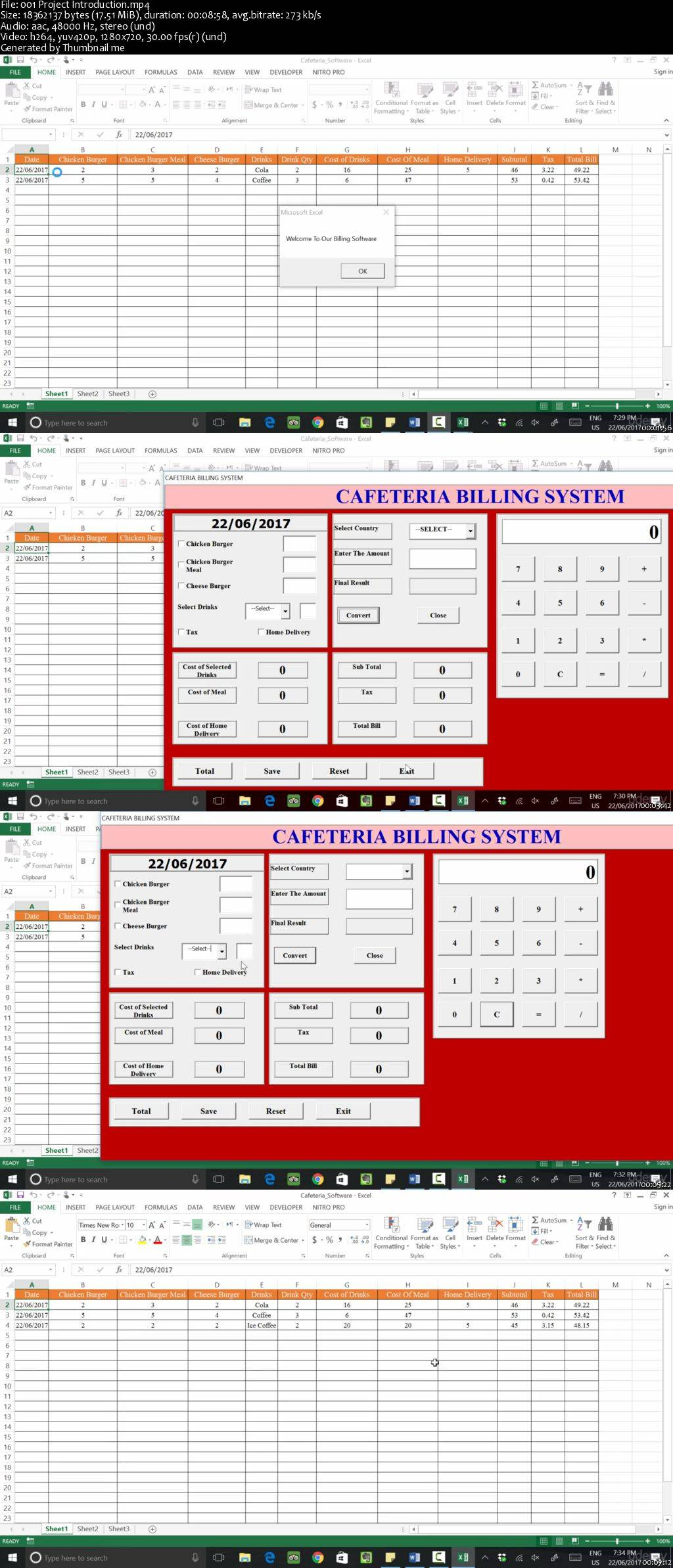 Excel Vba Resturant Billing System With Currency Converter