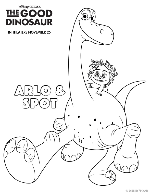 Arlo and Spot Coloring Sheet