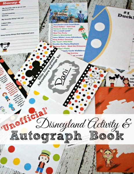 2016 Unofficial Disneyland Activity & Autograph book by BusyMomsHelper 30 Text