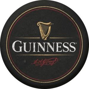 Guinness Black Harp Logo Authentic Bourbon Barrel Head