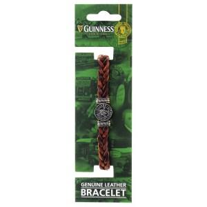 Guinness Ireland Brown Leather Harp Bracelet