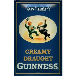 Guinness On Tap Metal Sign