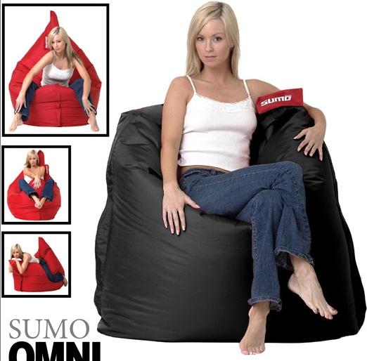 Girls on Sumo Bean Bag Chairs