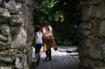 Caught Ella and Mom going into the grotto