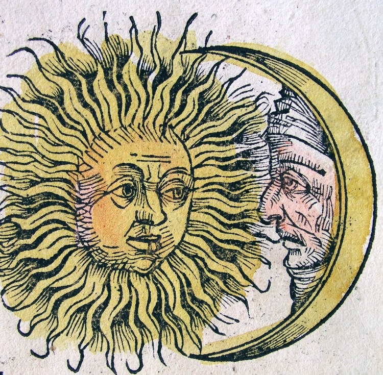 Sun and Moon, Nuremberg Chronicle (circa 1490s)