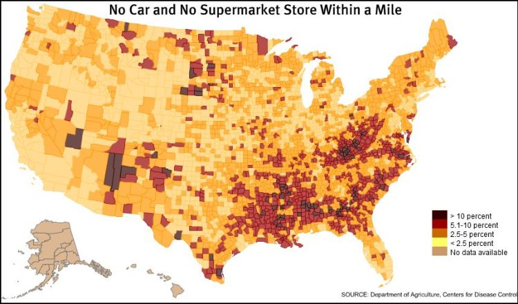 Getting to the Supermarket Map