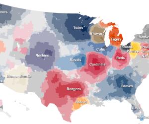 Sports Fan Territory Map