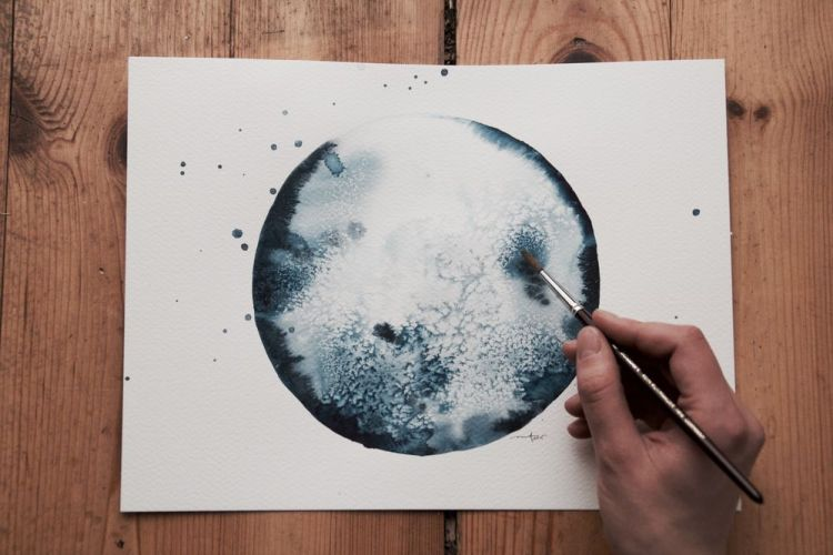 Watercolor Moon, Michal Friese