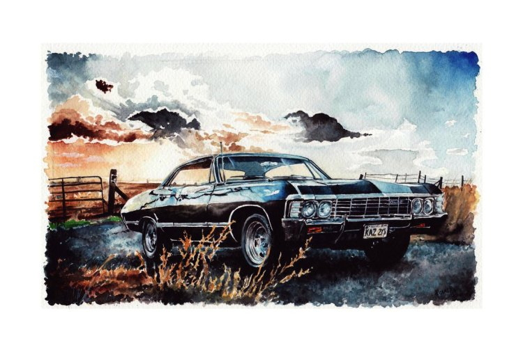 __baby___chevrolet_impala__67___supernatural_by_carella_art-d9z7txy