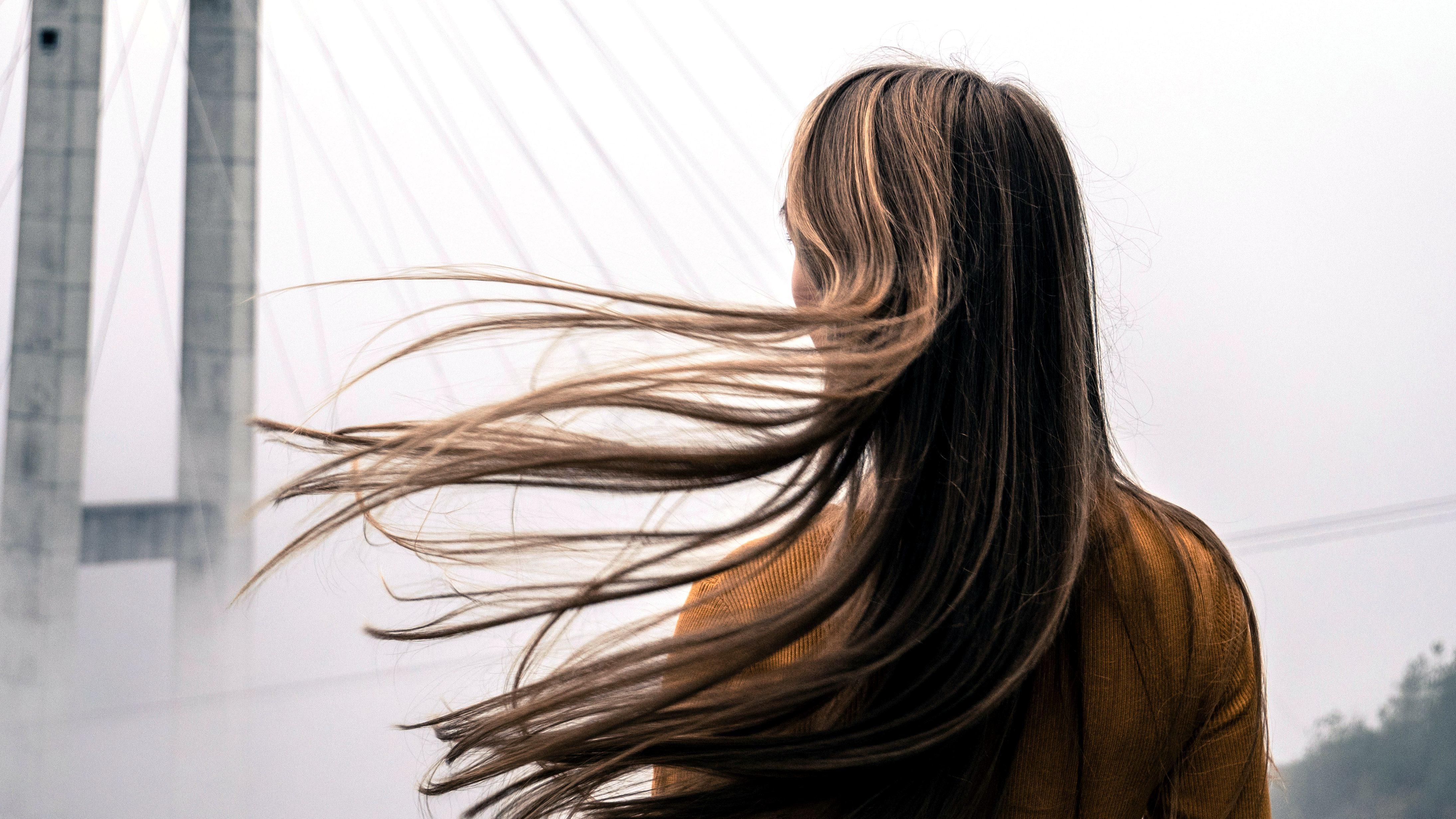 Image Libre Fille Cheveux Blonds Vent