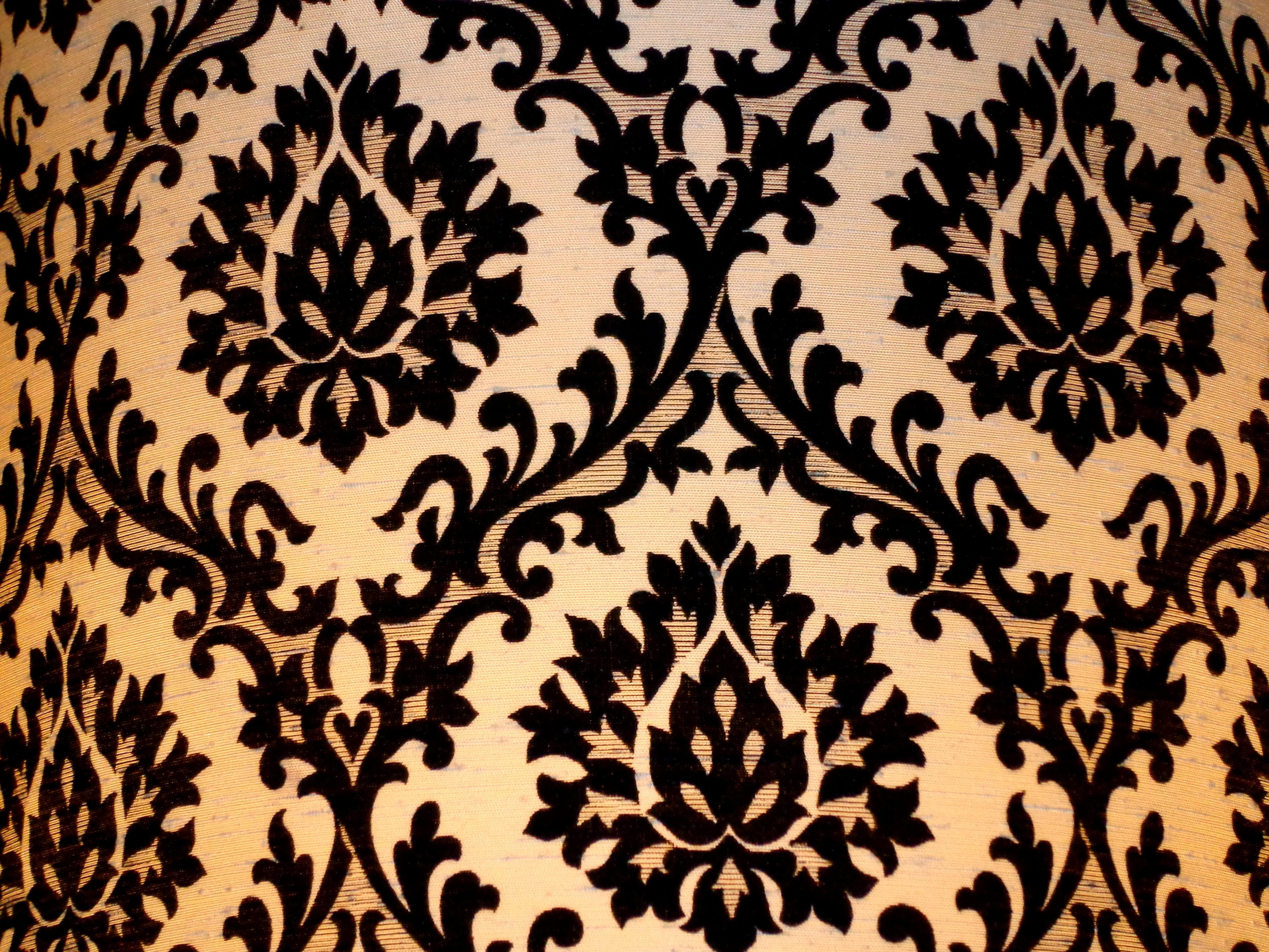 Black And Red Floral Fabric