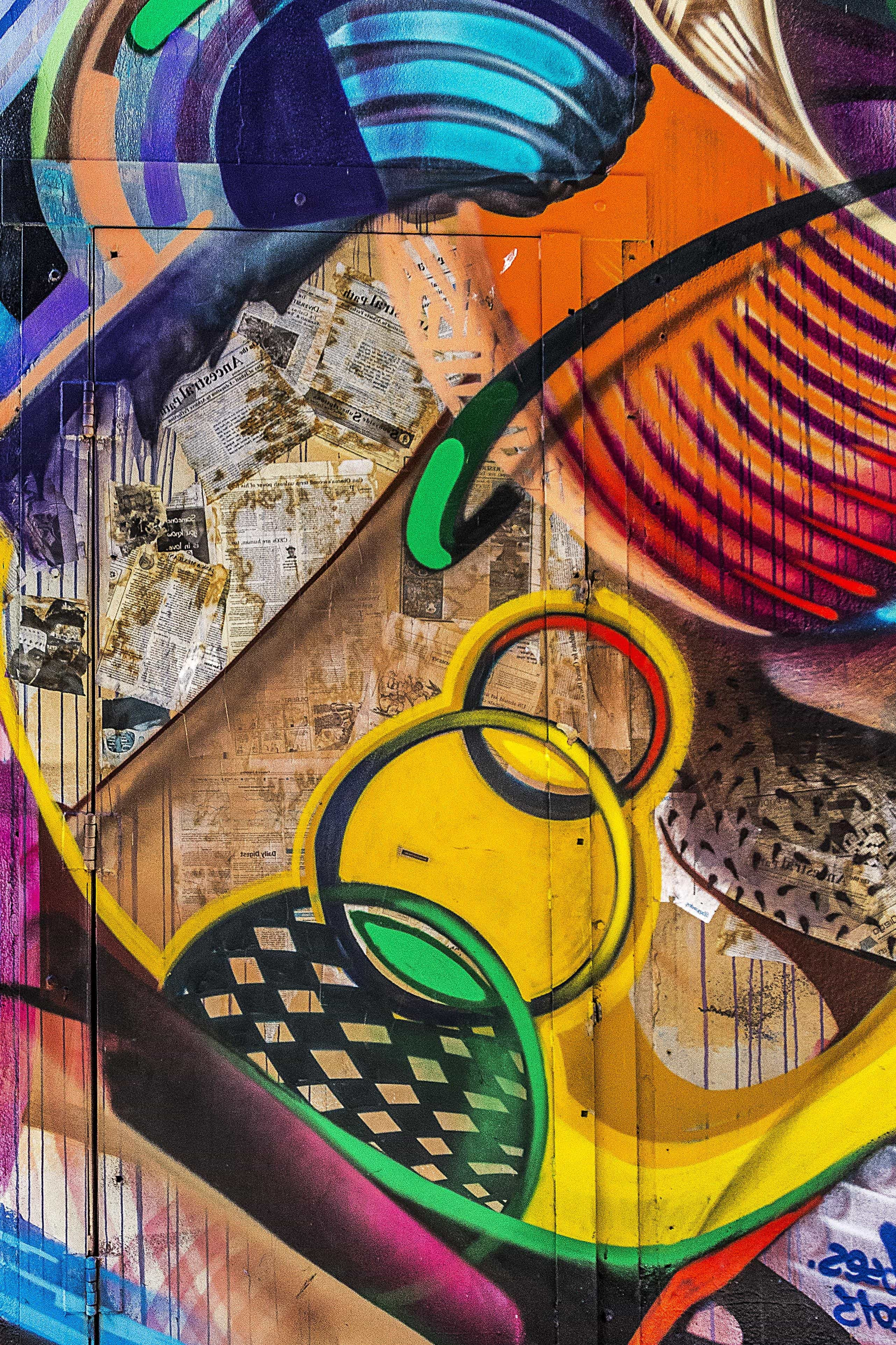 Free Picture Graffiti Street Front Door Colorful Wall