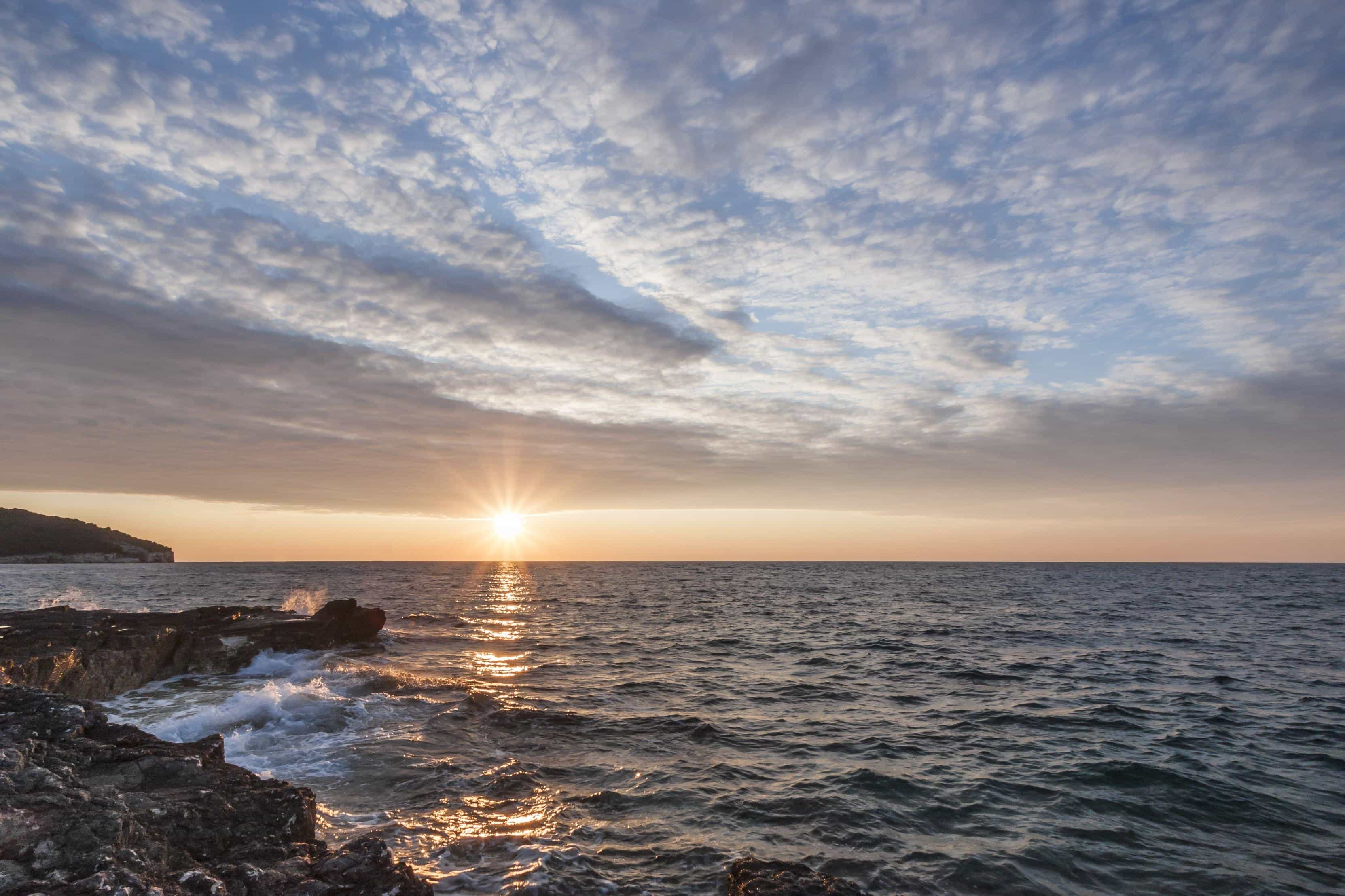 Free Picture Sunrise Pacific Water Dawn Sun Dusk