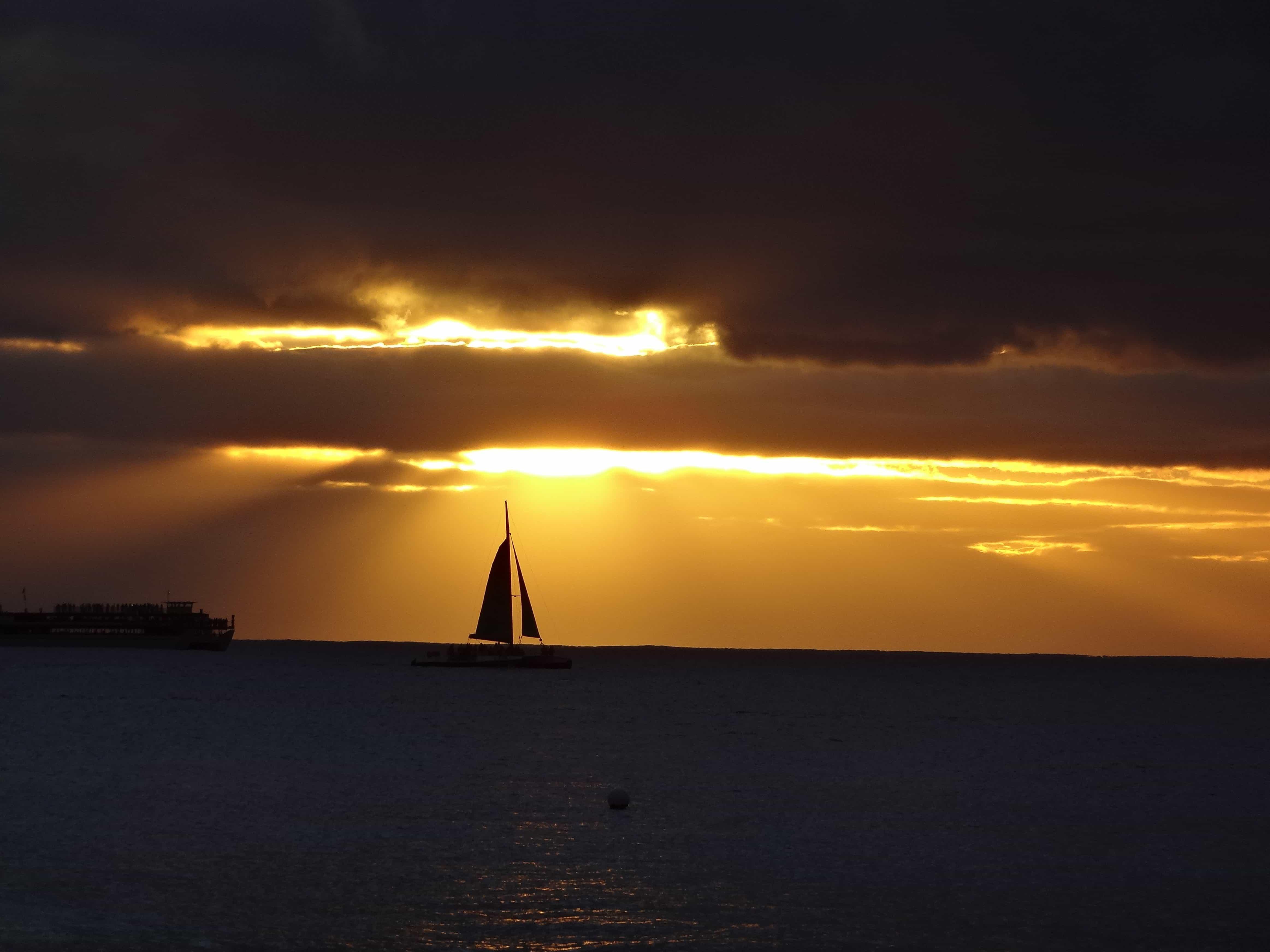 Free Picture Sunrise Boat Silhouette Water Ocean Sea