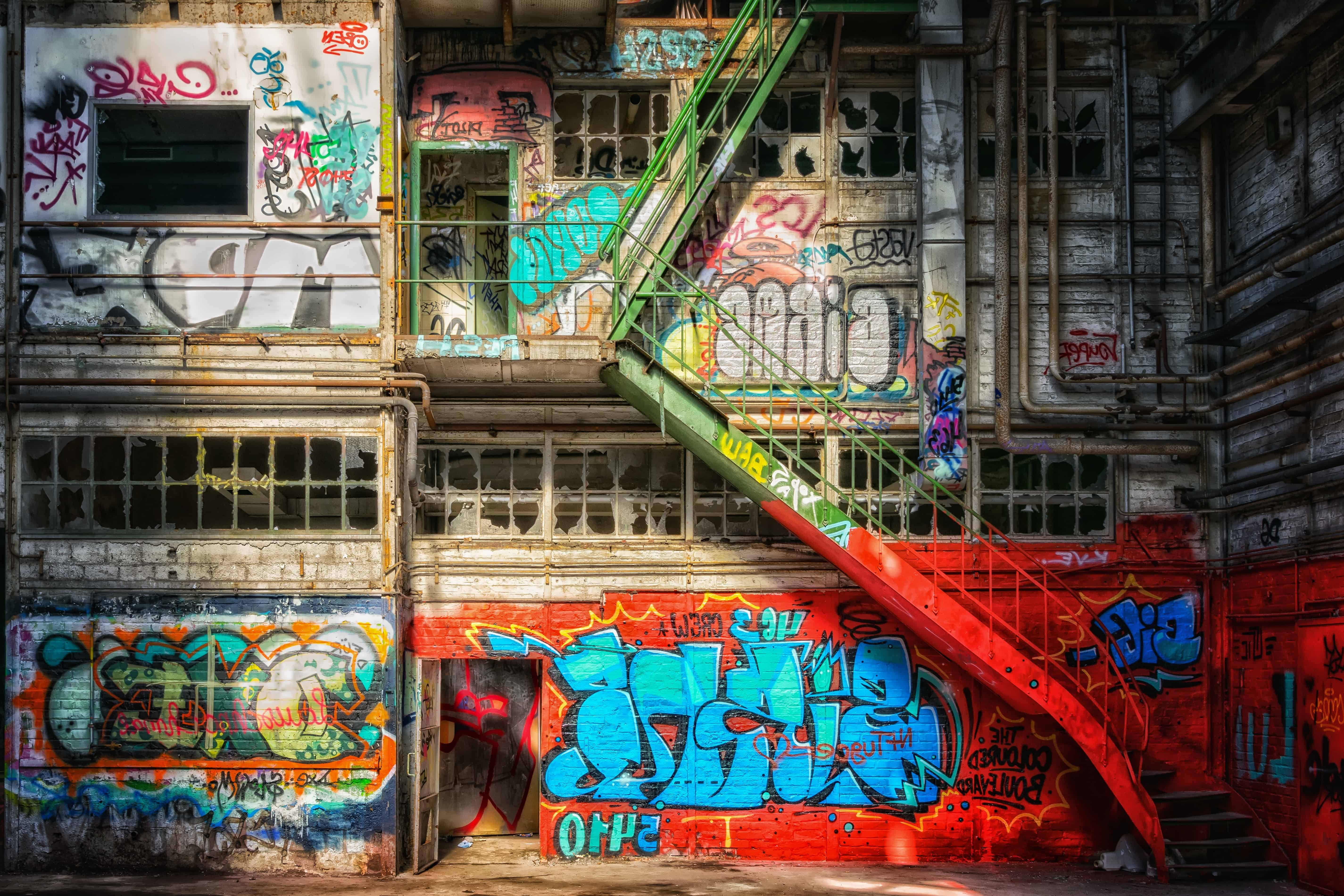 Free Picture Graffiti City Urban Street Stairs