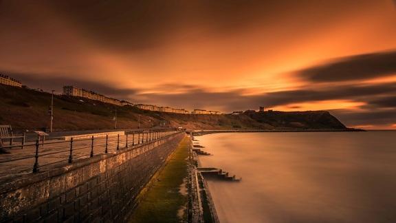 Безкоштовна картинка: води, природи, океан, захід сонця ...