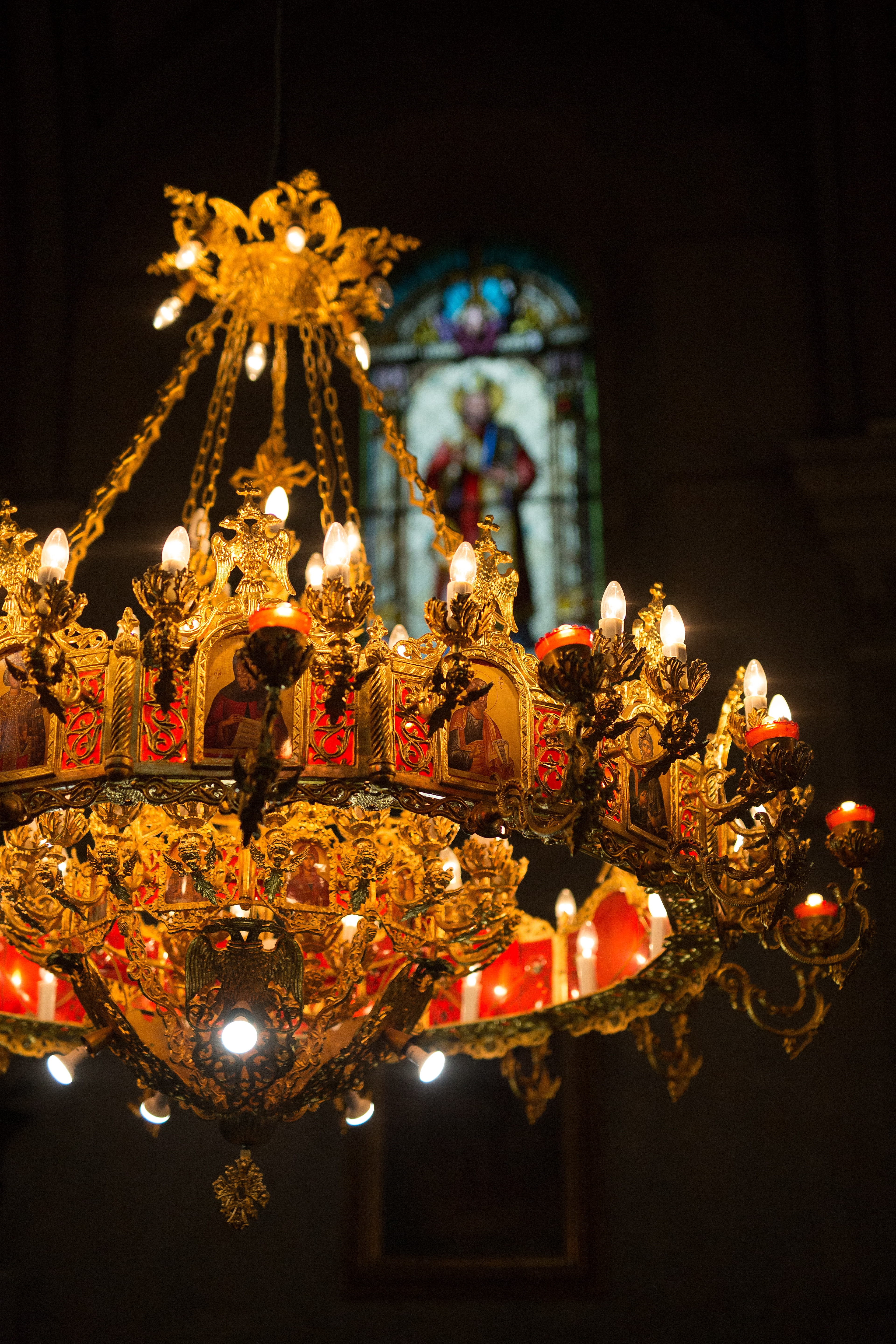 free picture church russian orthodox chandelier gold luxury candle interior design religion light