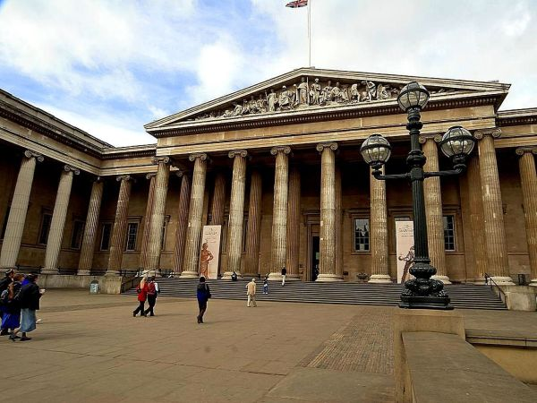 Free picture: front, entrance, British, museum, London ...
