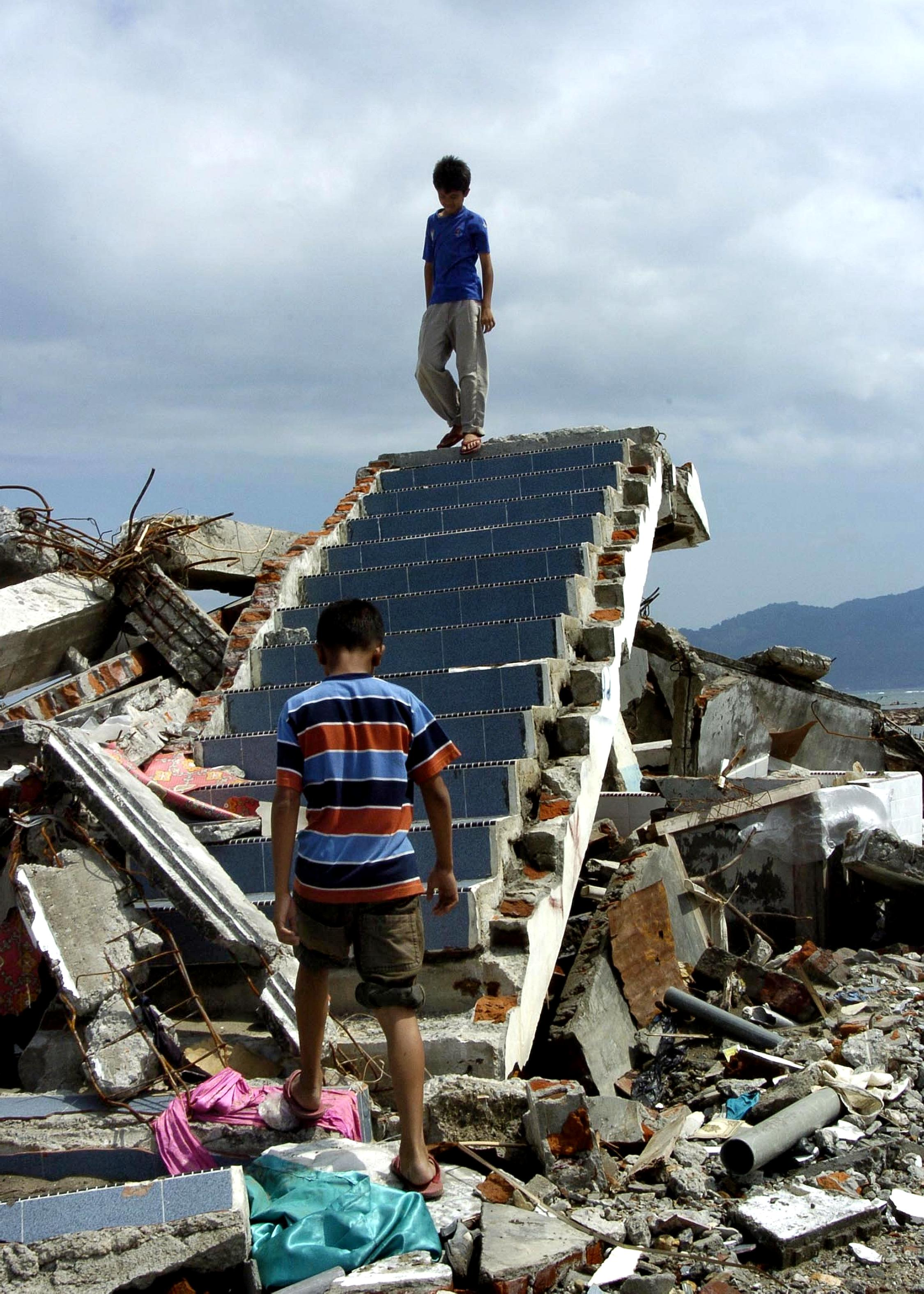 Free Picture Tsunami Math Indonesia Destroyed Housing