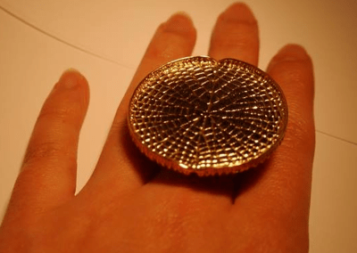 Victoria Lily pad ring by hendrik F