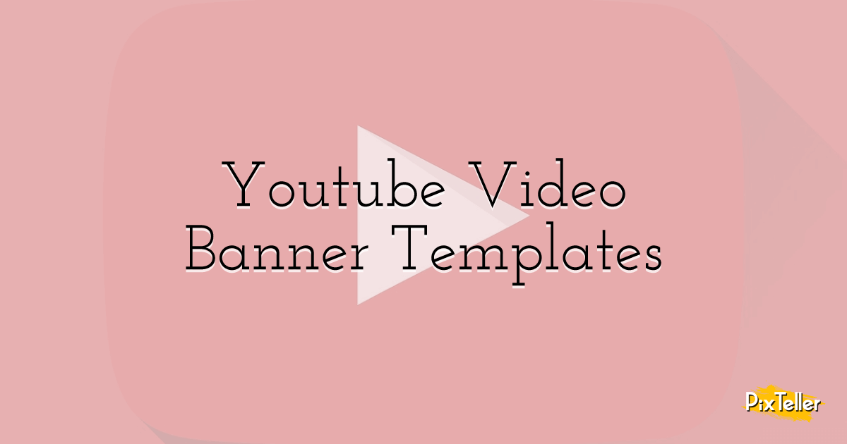 Fotor's youtube banner maker helps you create stunning youtube banners like a pro. Free Youtube Video Banner Templates Pixteller