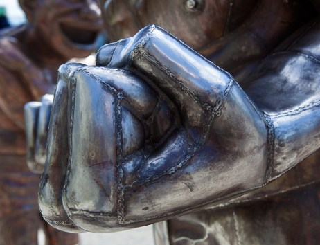 The unclenching fist