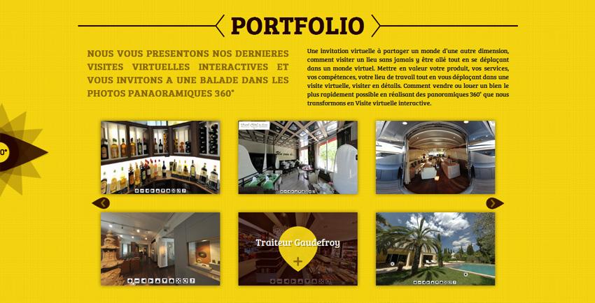 Site internet 360degresud page portfolio