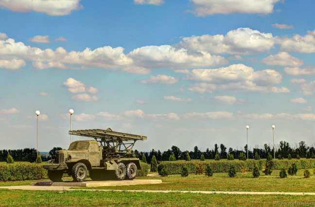 Katjusha: Raketenwerfer BM-13 auf einem SIL-157 Chassis.
