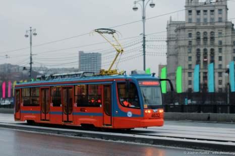 eine Moskauer Straßenbahn