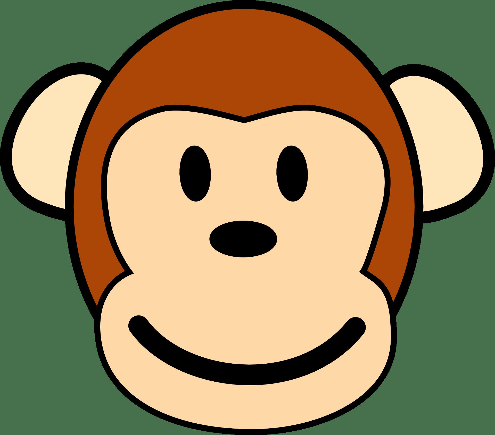 Happy Cartoon Monkey Face Free Image