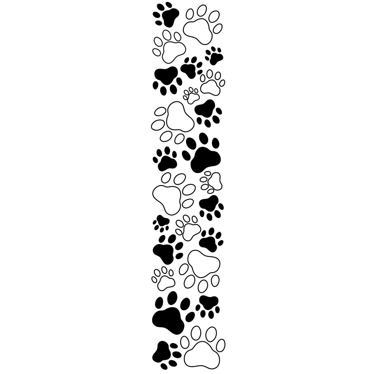 Paw Print Border Clip Art N10 Free Image