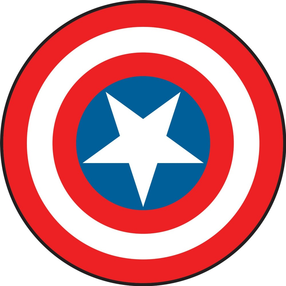 Drawing Of The Captain America S Shield Free Image