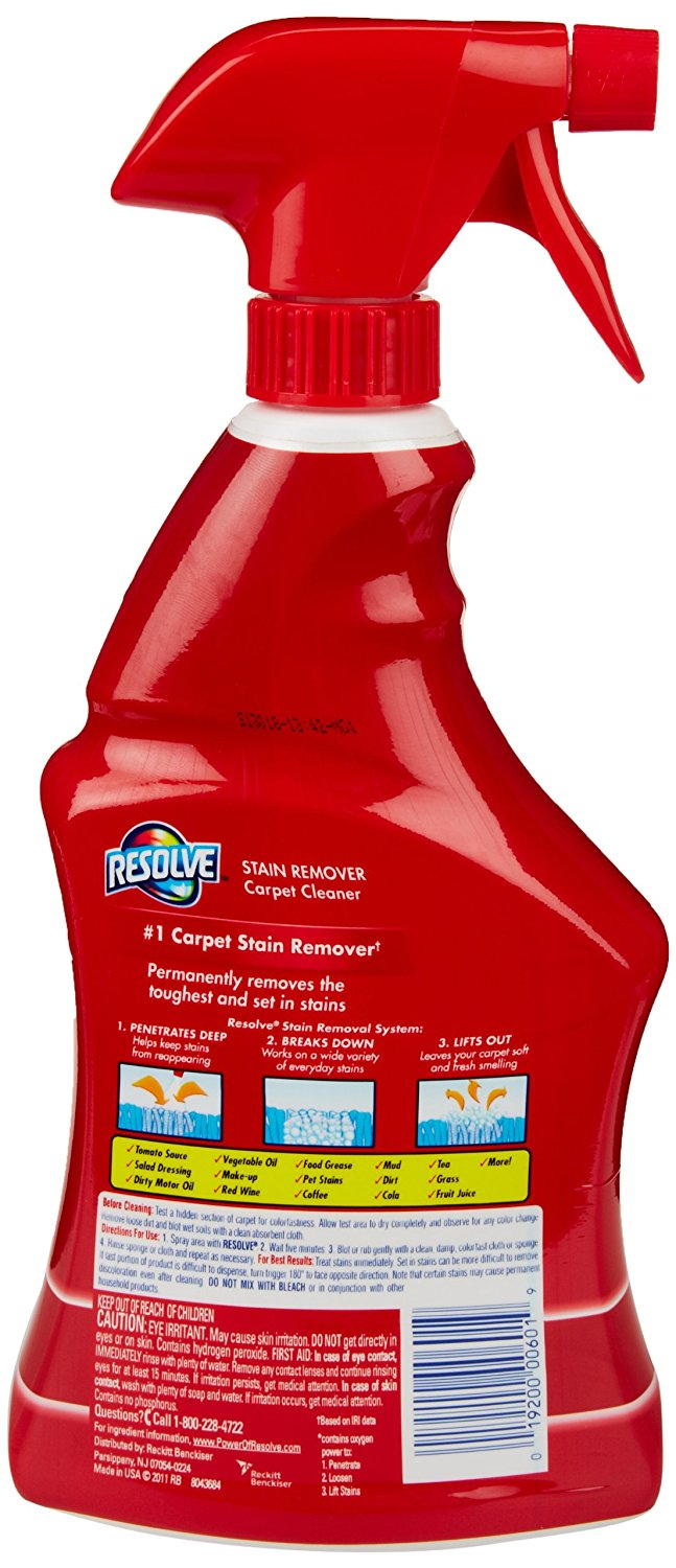 Resolve Carpet Cleaner With Triple Oxi Action Advanced Carpet Stain Remover 22 Oz N2 Free Image