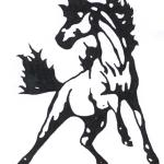 Mustang Wild Horse Black And White Drawing Free Image
