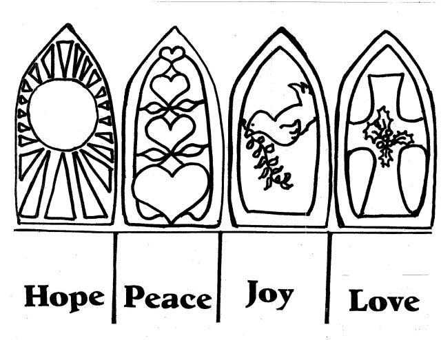 Advent wreath coloring page free image download