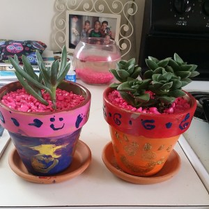 The girls' finished pots :)