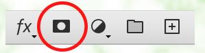 レイヤーマスクを追加のボタンを押す。