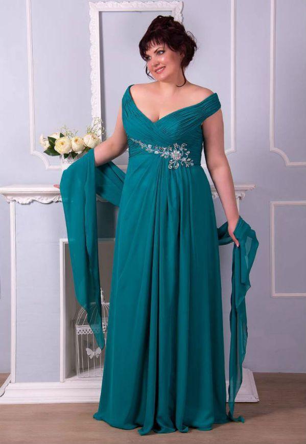 Мода для полных женщин 2017 за 50 лет. Платья (фото новинок)