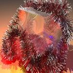 Espumillón de navidad