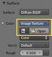 Surface con image texture activada