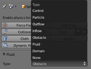 Tipo de elemento para simular fluidos