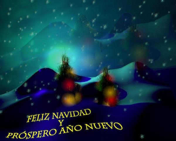 Postal de navidad de Sergio Carrasco