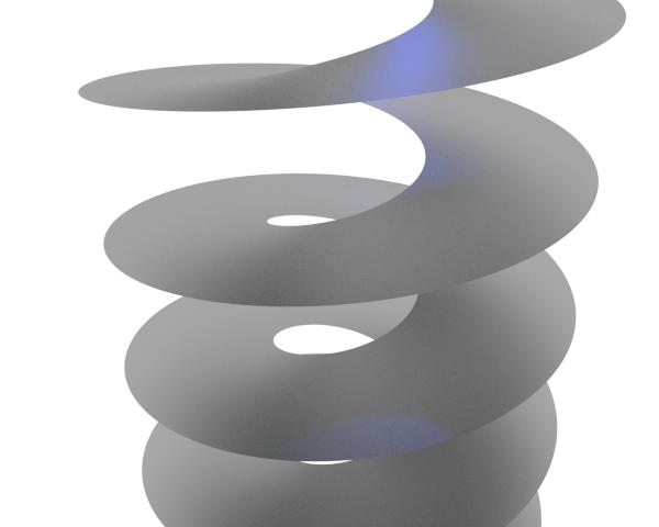 Helicoide axial recto