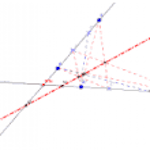 Projective axis of two series [Interactive] [Geogebra]