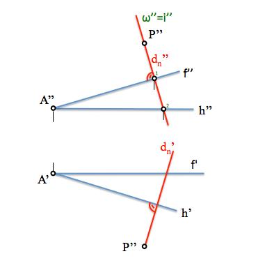 interseccion recta y plano con plano proyectante