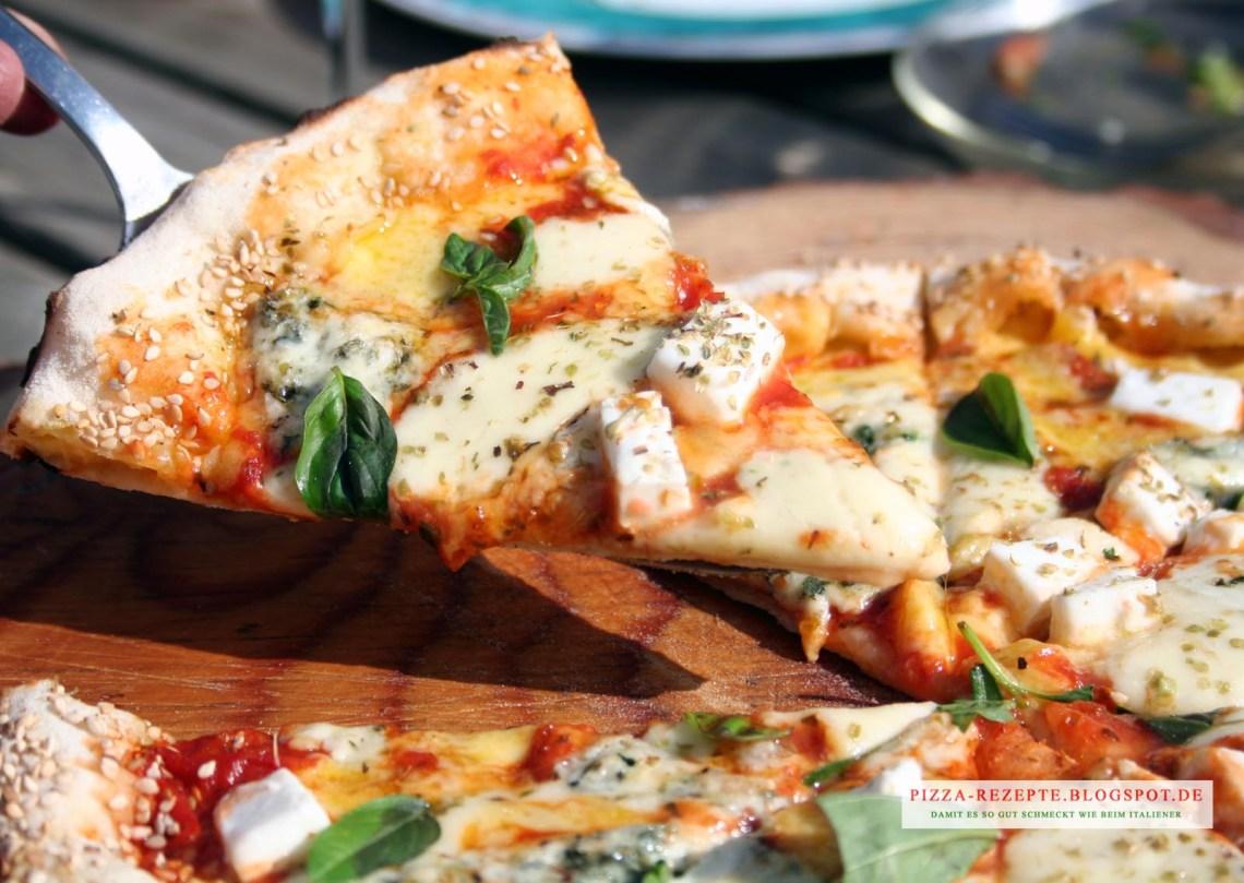 Pizza Quattro Formaggi (4 Käse)