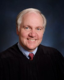 U.S. District Judge Sean J. McLaughlin, whose pleasant demeanor and calm manner were tested by Marjorie Diehl-Armstrong at her three-week trial in the pizza bomber case in U.S. District Court in Erie, Pennsylvania, in October and November 2010. Contributed photo.