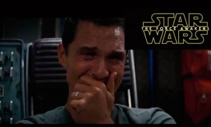 Reacción de Matthew McConaughey ante el tráiler de Stra Wars